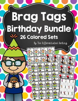 Brag Tags Birthday Colored Bundle