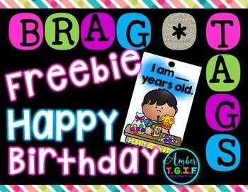 Brag Tags Birthday Freebie