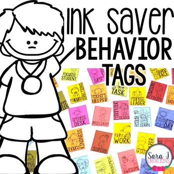 Behavior Tags - Black and White