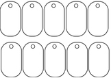 Brag Tags Blank Template
