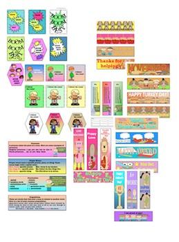 Bundle Brag Tags Bookmarks (Teachable  Holidays  All Year )