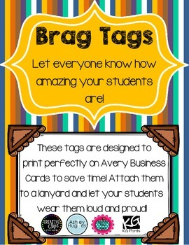 Brag Tags-Business Card Size