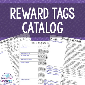Brag Tags Catalog