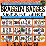 Character Education Braggin Badges | Reward Tags