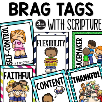Brag Tags (Character Education with Scripture)