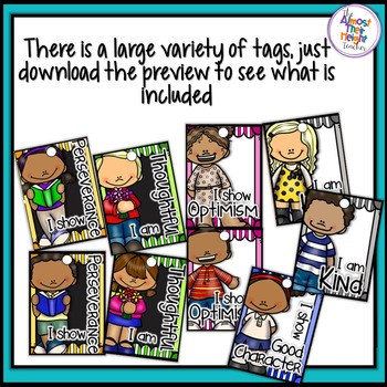 Character Trait Education Brag Tags