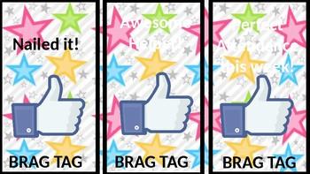 Brag Tags / Classroom Awards --EDITABLE
