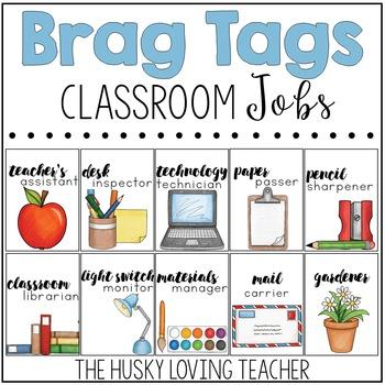 Brag Tags: Classroom Jobs