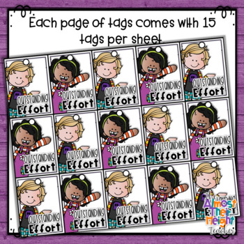 Brag Tags for Attitude and Behavior in the classroom