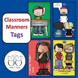 Classroom Manners Tags