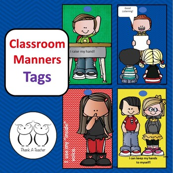 Brag Tags : Classroom Manners