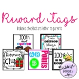 Reward Tags Collection (60 Pages!!!) Includes Parent Letter and Checklist!