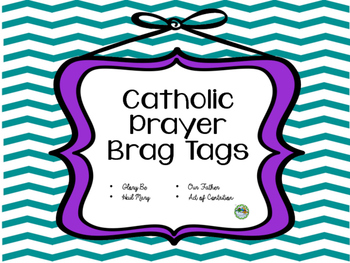 Brag Tags Color Catholic Prayers