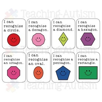 2D Shapes Reward Cards