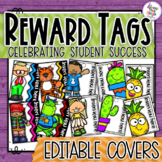 Brag Tags - Covers for your Students Tags - Editable to add Student Names