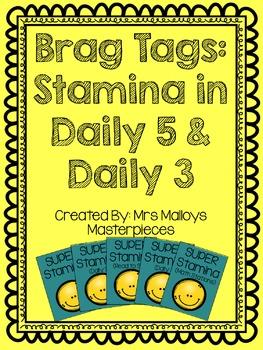 Brag Tags: Daily 5 & Daily 3 Stamina