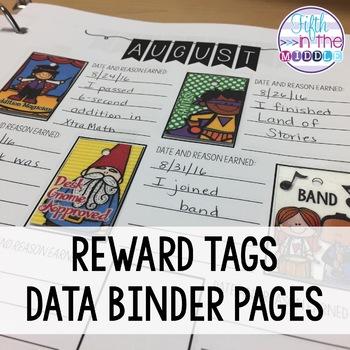 EDITABLE Reward Tags Data Binder Pages/Booklet