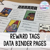 EDITABLE Reward Tags Data Binder Pages/Booklet