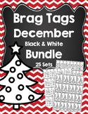Brag Tags December Black and White Bundle
