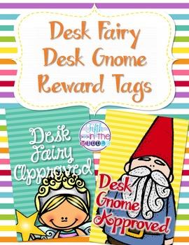 Desk Fairy and Desk Gnome Reward Tags