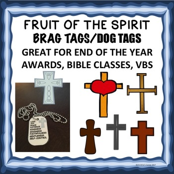 Awards Fruit of the Spirit  Brag Tag End of Year Dog Tags Awards Bible VBS