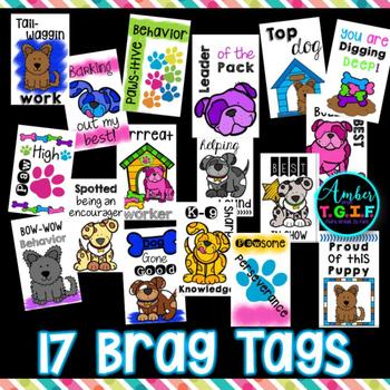 Brag Tags Dog Theme