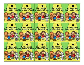 Brag Tags Editable - Academic and Behavior Incentive - Wizard of Oz