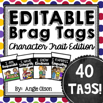 Brag Tags Editable Character Traits Edition (40 templates)