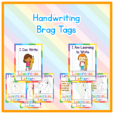 Brag Tags - Editable Handwriting Incentives