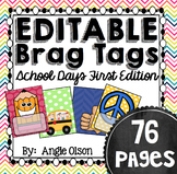 Brag Tags Editable School Days First Edition (73 templates)