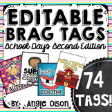 Brag Tags Editable School Days Second Edition (74 templates)