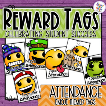Attendance Brag Tags - Emoji themed