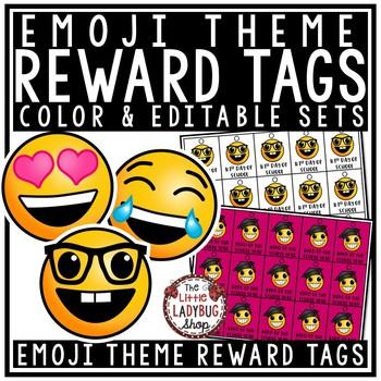 Emoji Brag Tags EDITABLE- Positive Behavior Incentive Emoji Theme Back to School