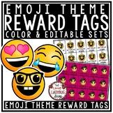 Editable Reward Tags: Emoji Classroom Theme Classroom Management