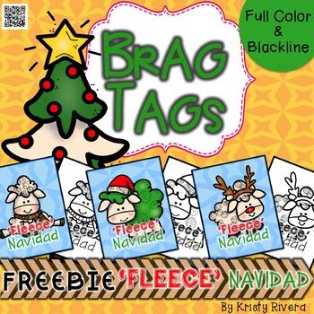 Brag Tags 'FLEECE' Navidad *FREEBIE*
