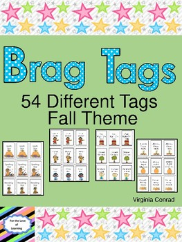 Brag Tags:  Fall Theme