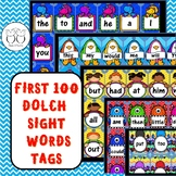 Brag Tags: First 100 Dolch Sight Words Tags