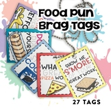 Brag Tags:  Food Puns | Digital Stickers | Distance Learning