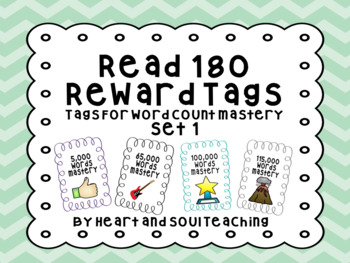 Brag Tags For Read 180  (For Reading Word Counts)