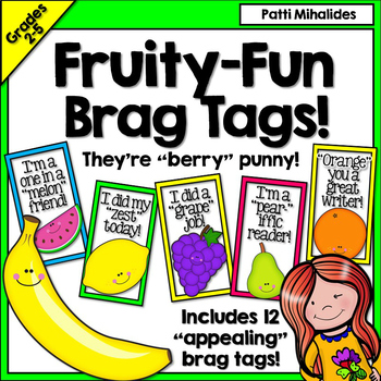 Brag Tags Fruit Themed -A fruity addition to your brag tag collection!