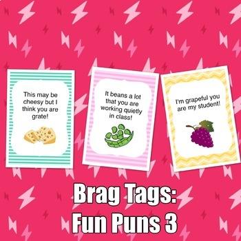 Brag Tags: Fun Puns Set #3