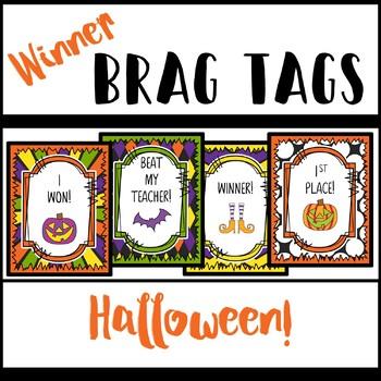 Brag Tags - Game Winner! - Halloween Edition