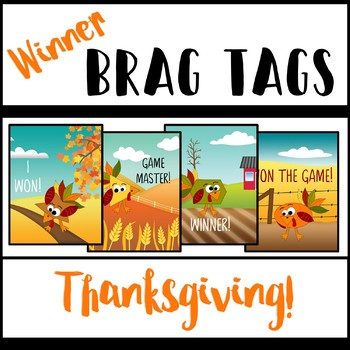 Brag Tags - Game Winner! - Thanksgiving Edition