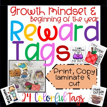Brag Tags: Growth Mindset & Beginning of the year Set in Color!