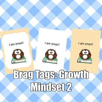 Brag Tags: Growth Mindset Set #2