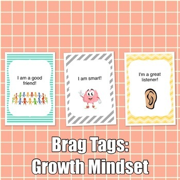 Brag Tags: Growth Mindset Set