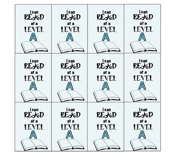Brag Tag Guided Reading Level A