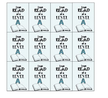 Brag Tags Guided Reading Levels Set
