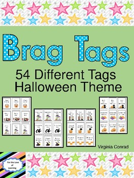 Brag Tags:  Halloween Theme