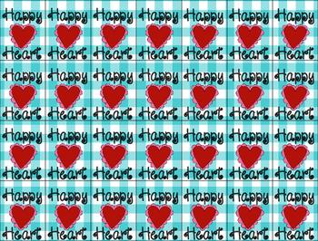 Brag Tags- Happy Heart